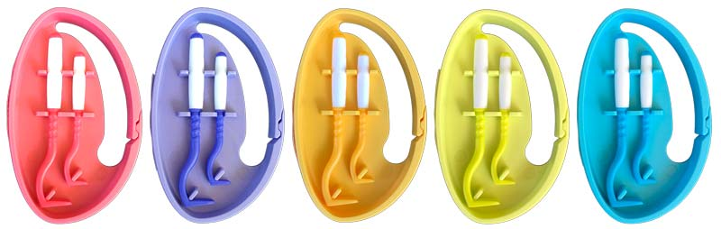 TickTwister belt clip - 2 hooks in a handy case